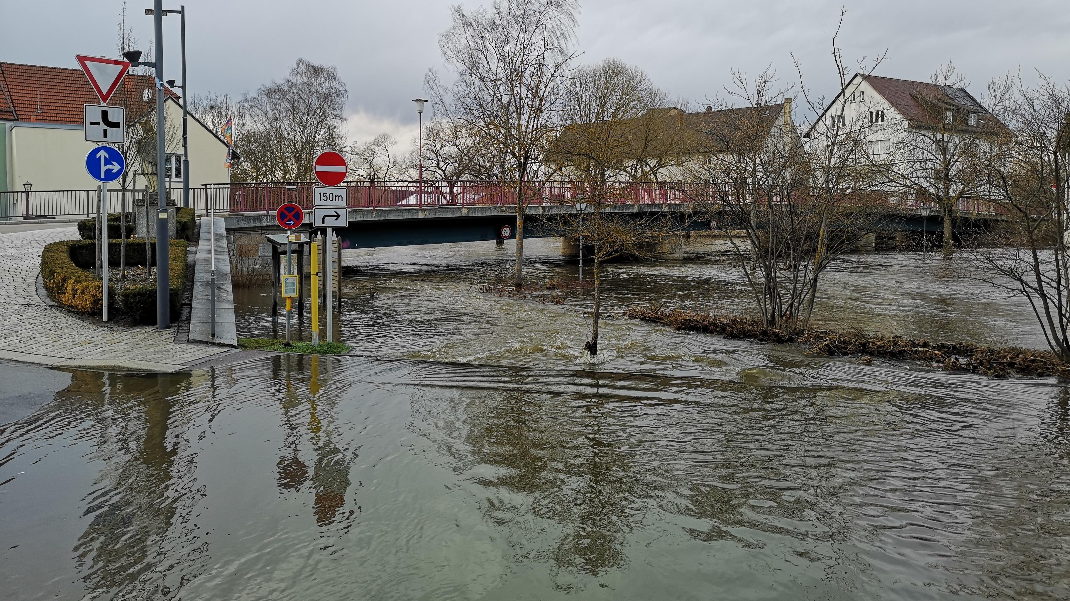 Hochwasser am Wochenende in der Oberpfalz