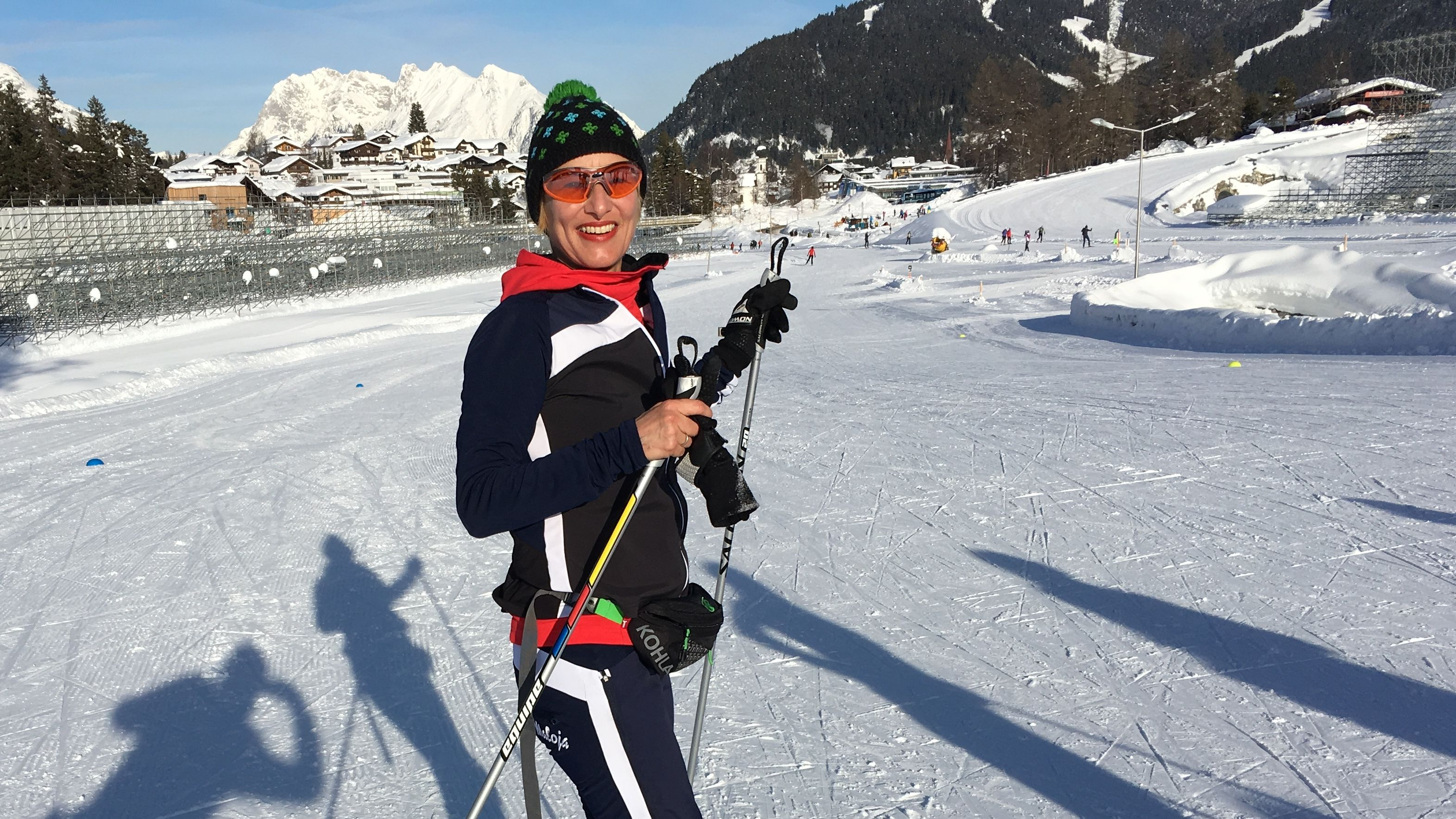 BR-Reporterin Frauke Gerbig beim Langlauf-Camp