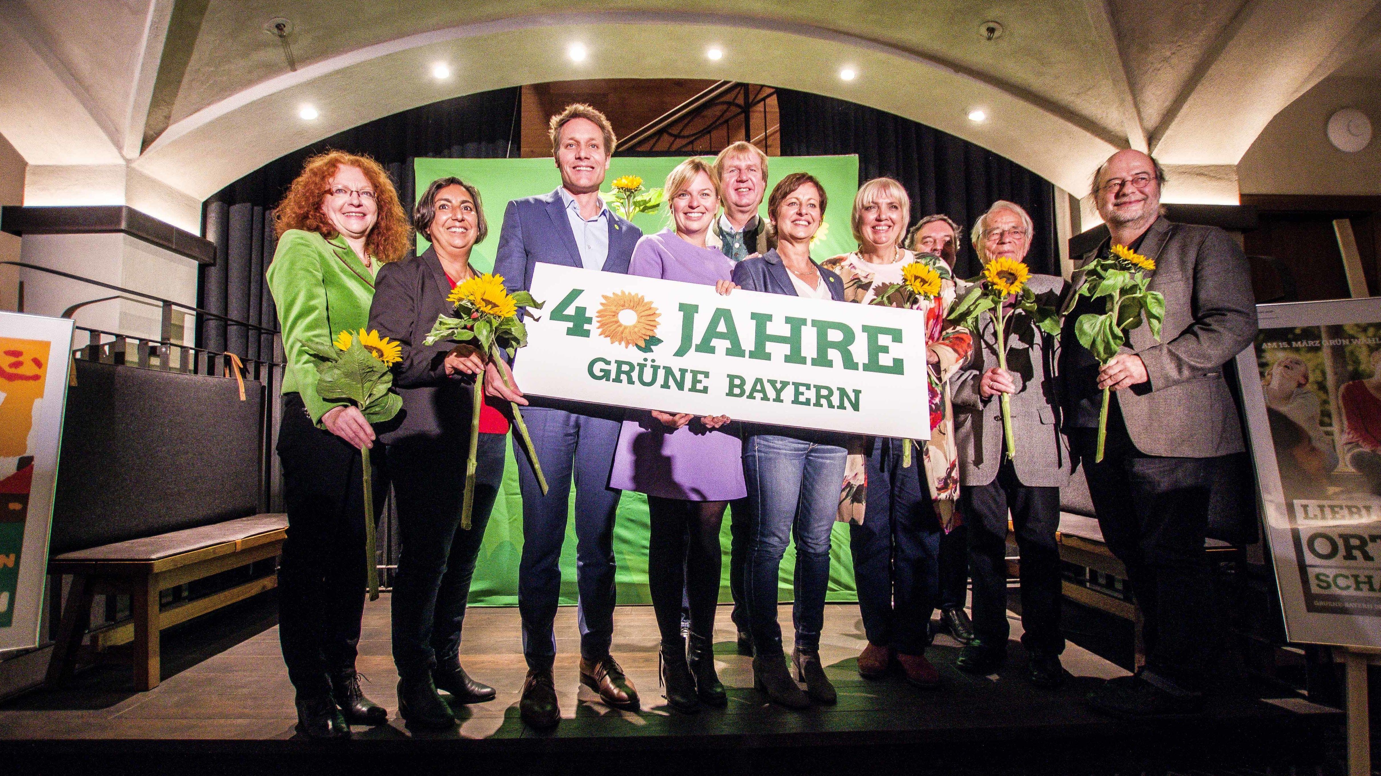Die Grünen bei der Feier zu ihrem 40-jährigen Bestehen Anfang Oktober in München.