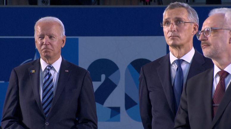 US-Präsident Joe Biden (li) beim Nato-Gipfel in Brüssel | Bild:BR