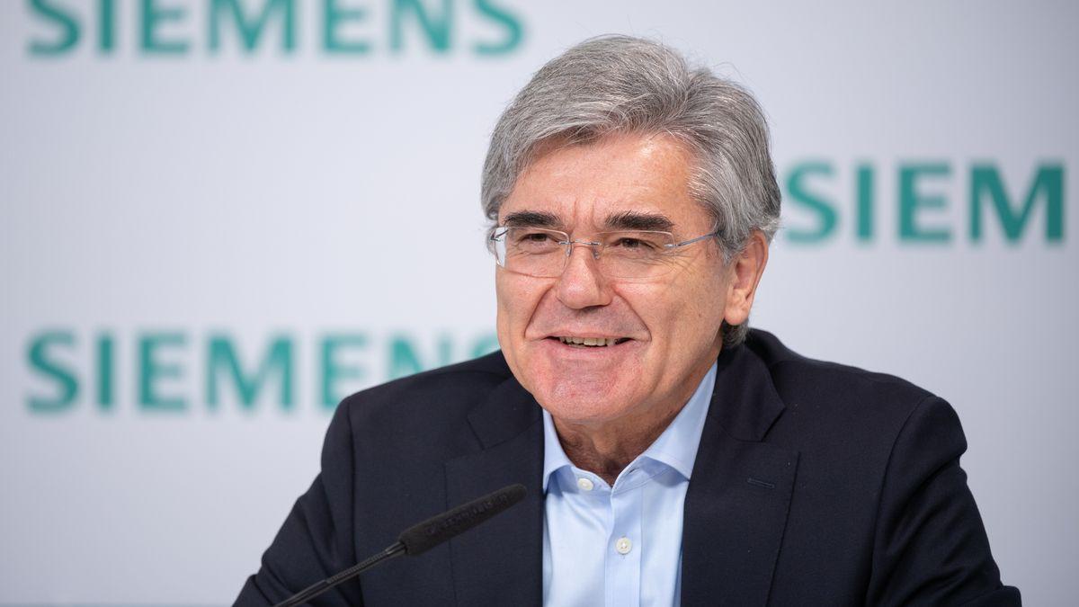 Joe Kaeser bei der Jahrespressekonferenz von Siemens