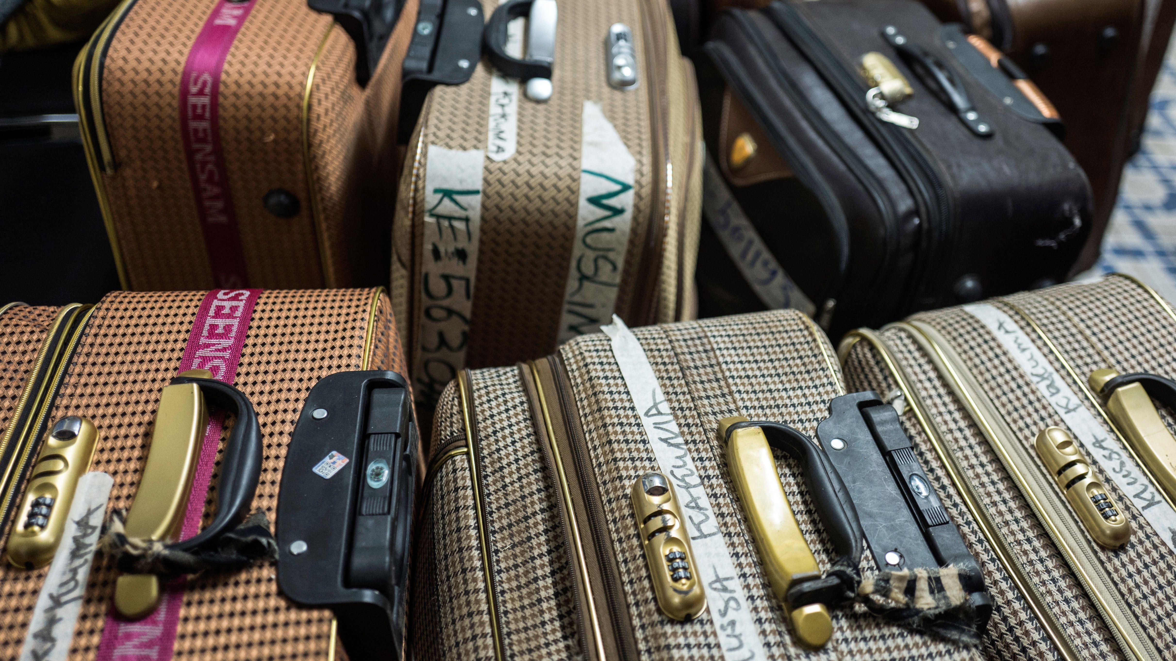 Koffer von Migranten