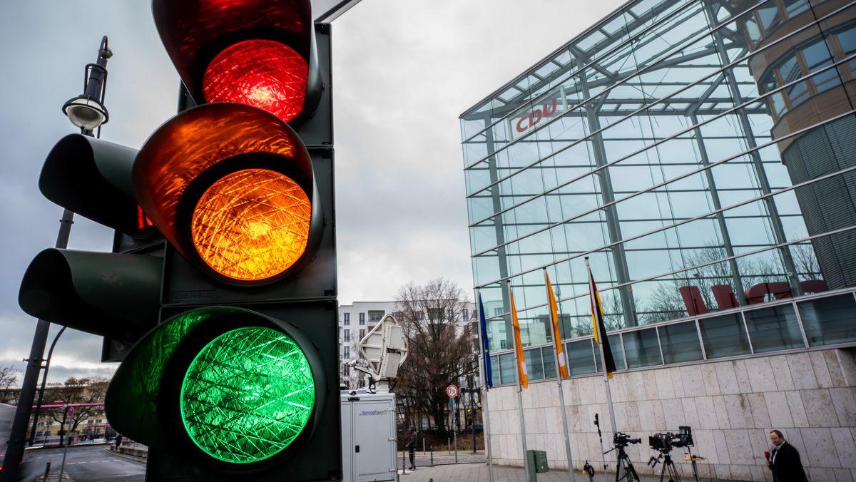 Ampel vor CDU-Parteizentrale (Symbolbild)