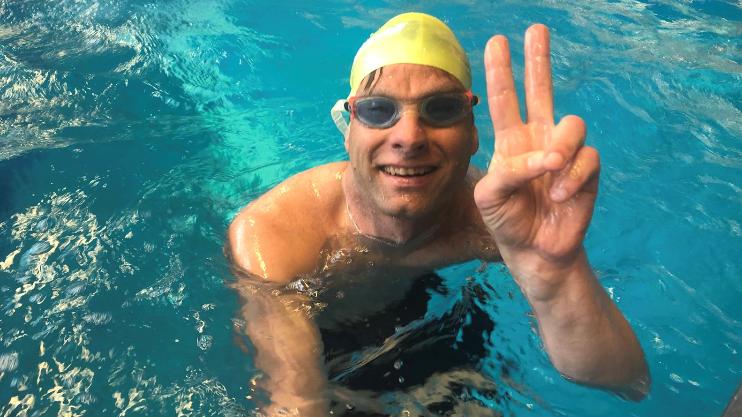 Stefan Weidner nach seiner ersten Goldmedaille