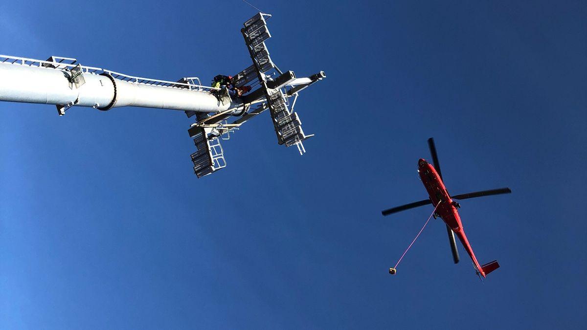 Helikopter-Einsatz am Geißkopf.