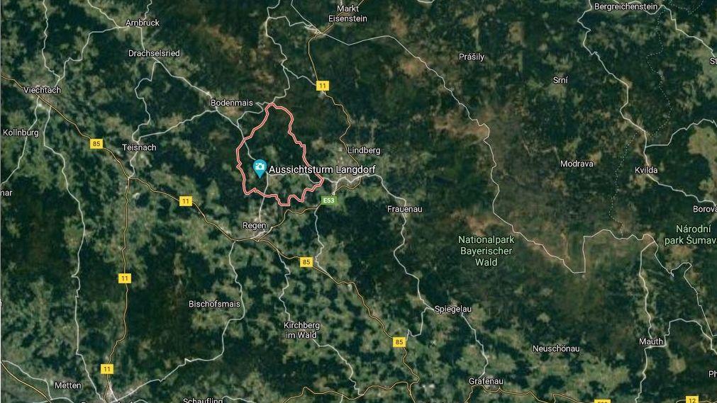 Langdorf auf Google Maps von oben