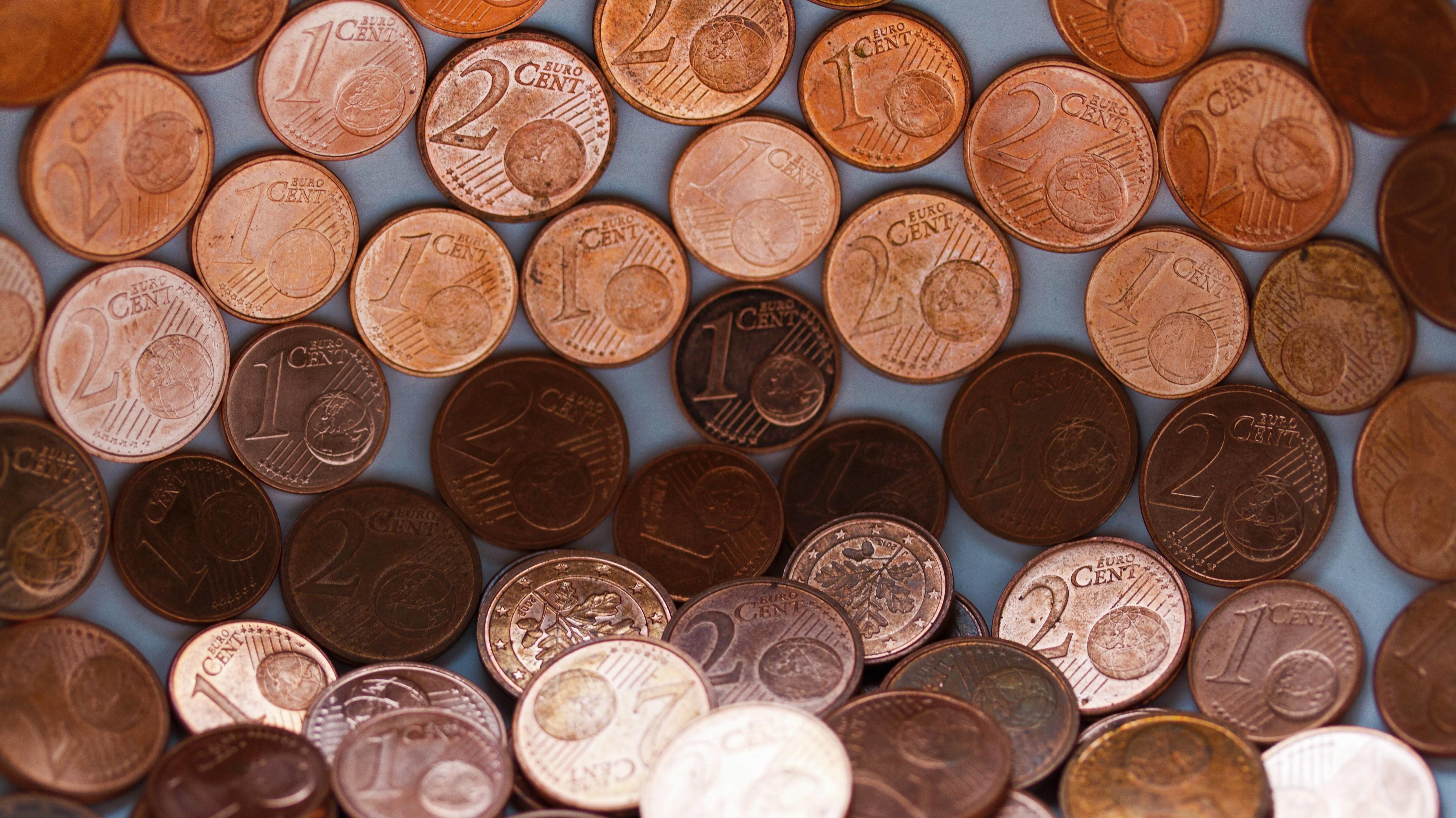 Ein- und Zwei-Centmünzen