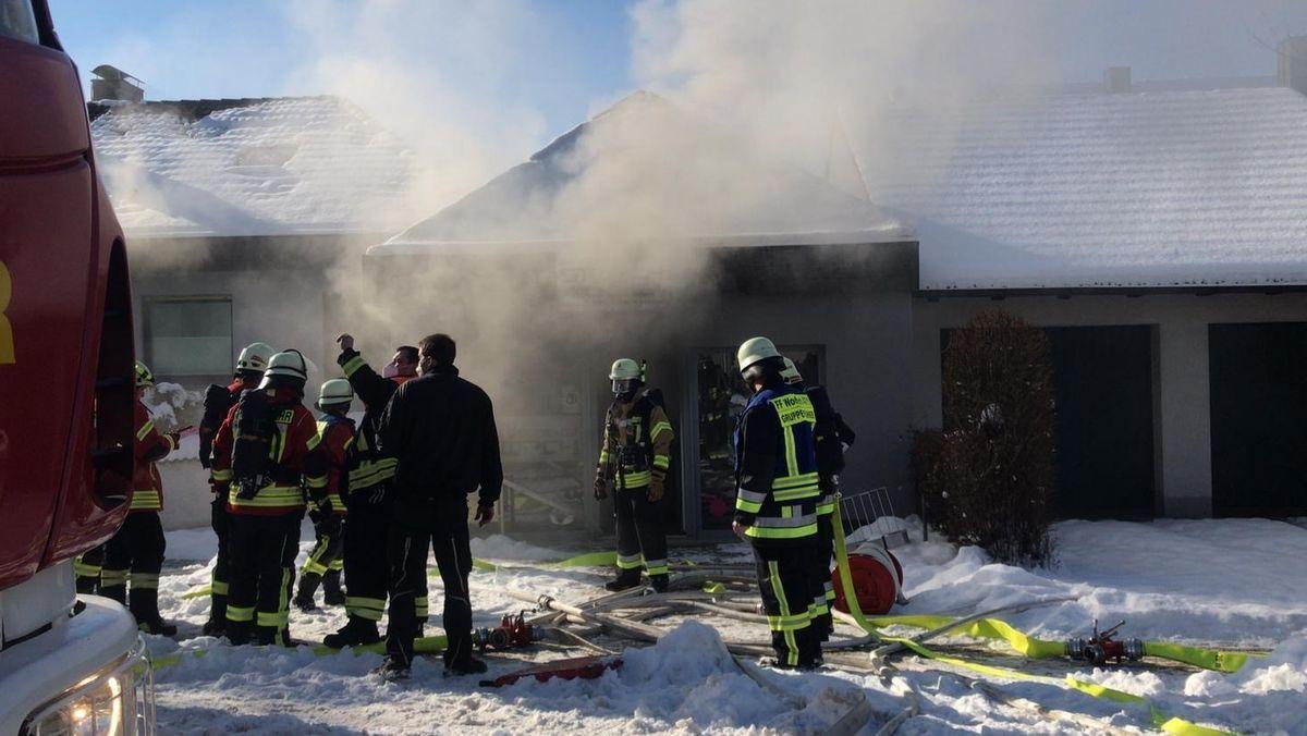 Feuerwehreinsatz bei einem Wohnhausbrand
