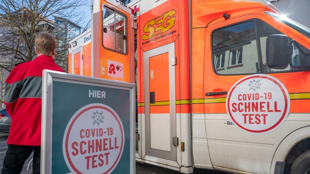 Mobiles Testzentrum in Ottweiler, Saarland