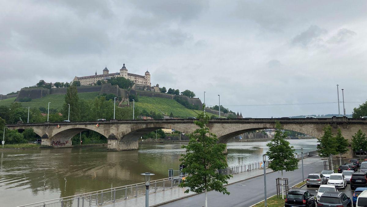 Blick auf die Löwenbrücke in Würzburg