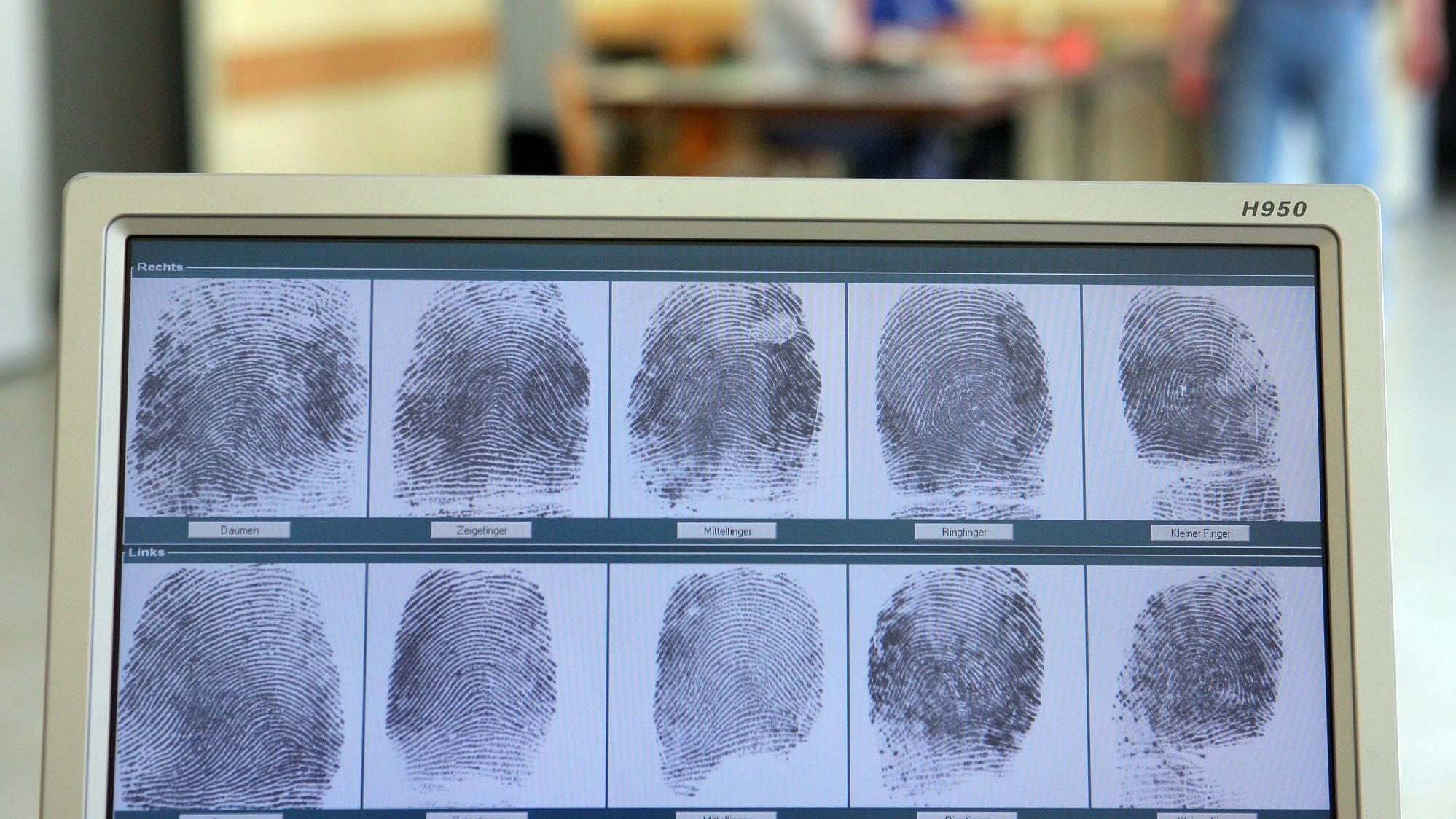 Fingerabdrücke auf einem Bildschirm