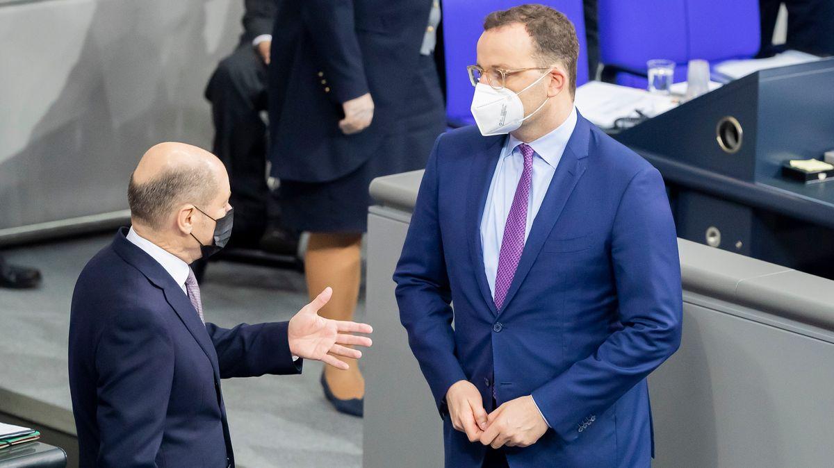 Olaf Scholz (l.) und Jens Spahn (im Dezember im Bundestag)