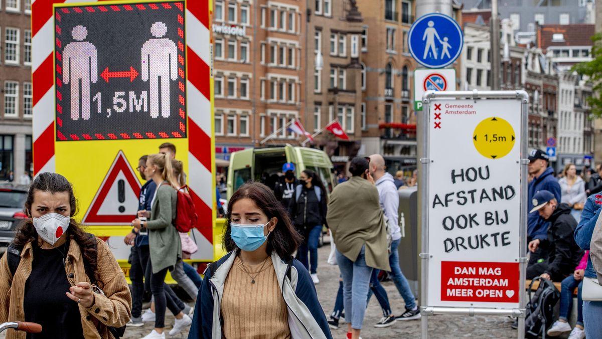 Maskenpflicht in Amsterdam und Rotterdam ausgerufen