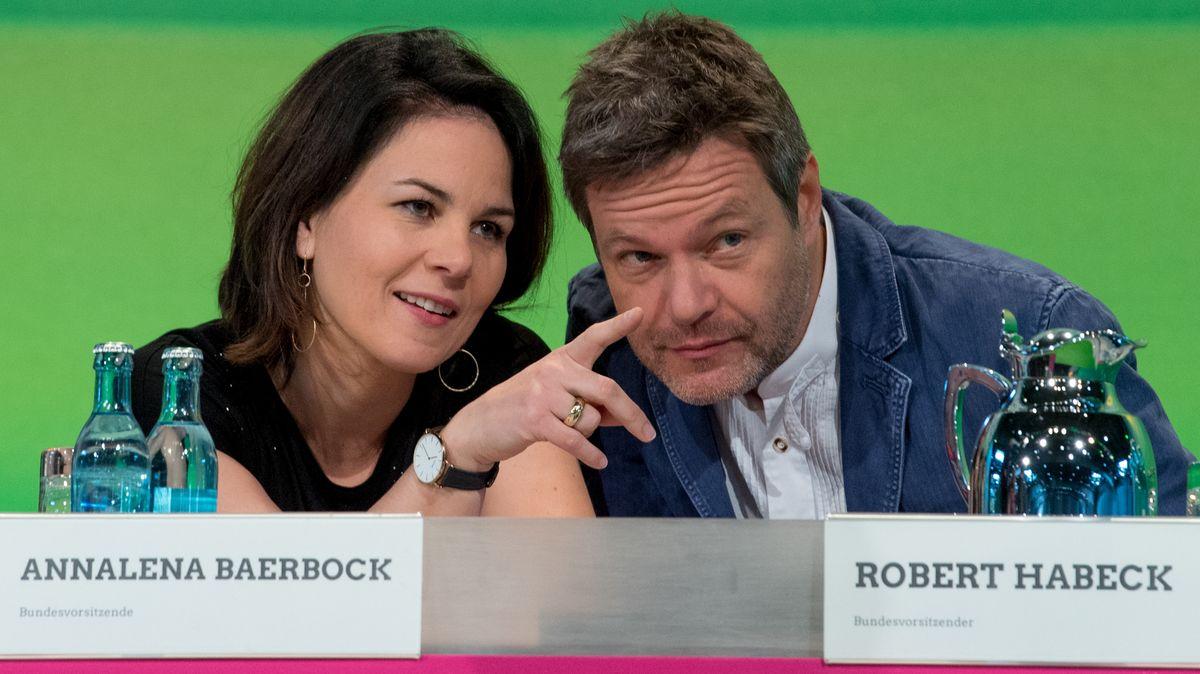 Die beiden Bundesparteivorsitzenden der Grünen: Annalena Baerbock und Robert Habeck