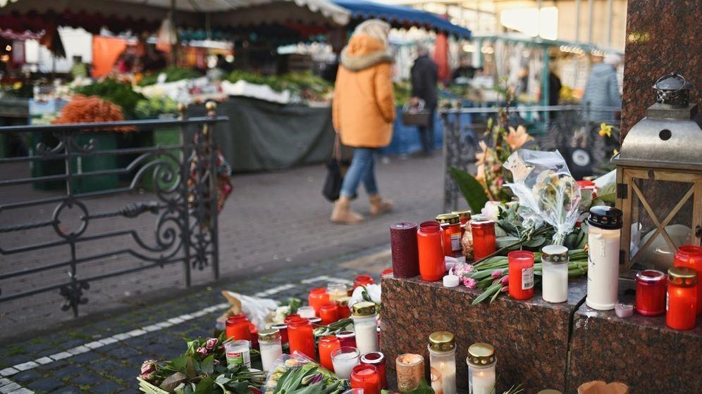 Nach Schüssen in Hanau - Gedenken | Bild:dpa-Bildfunk/Nicolas Armer