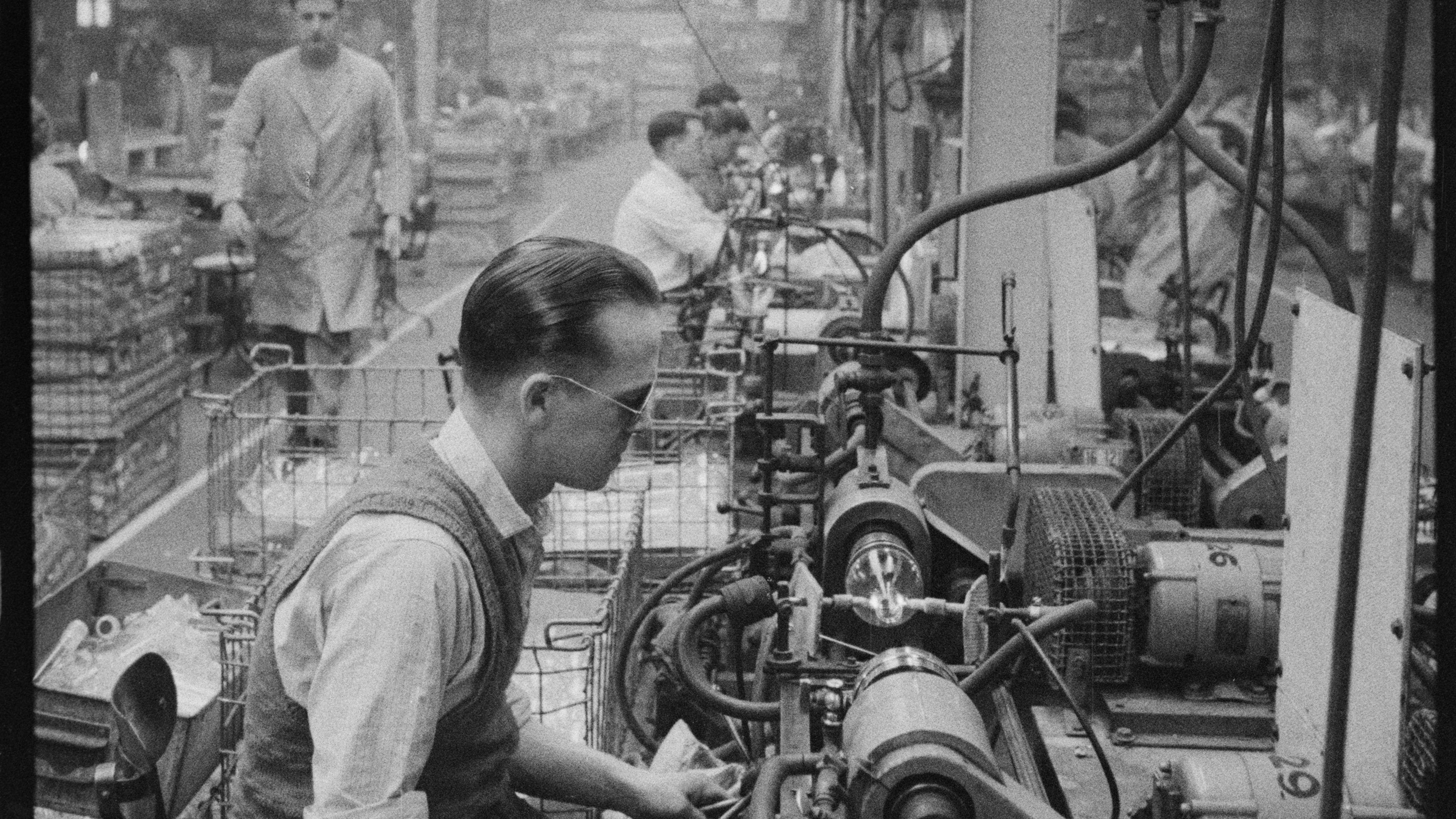 Eine historische Glasfabrik (Symbolbild)