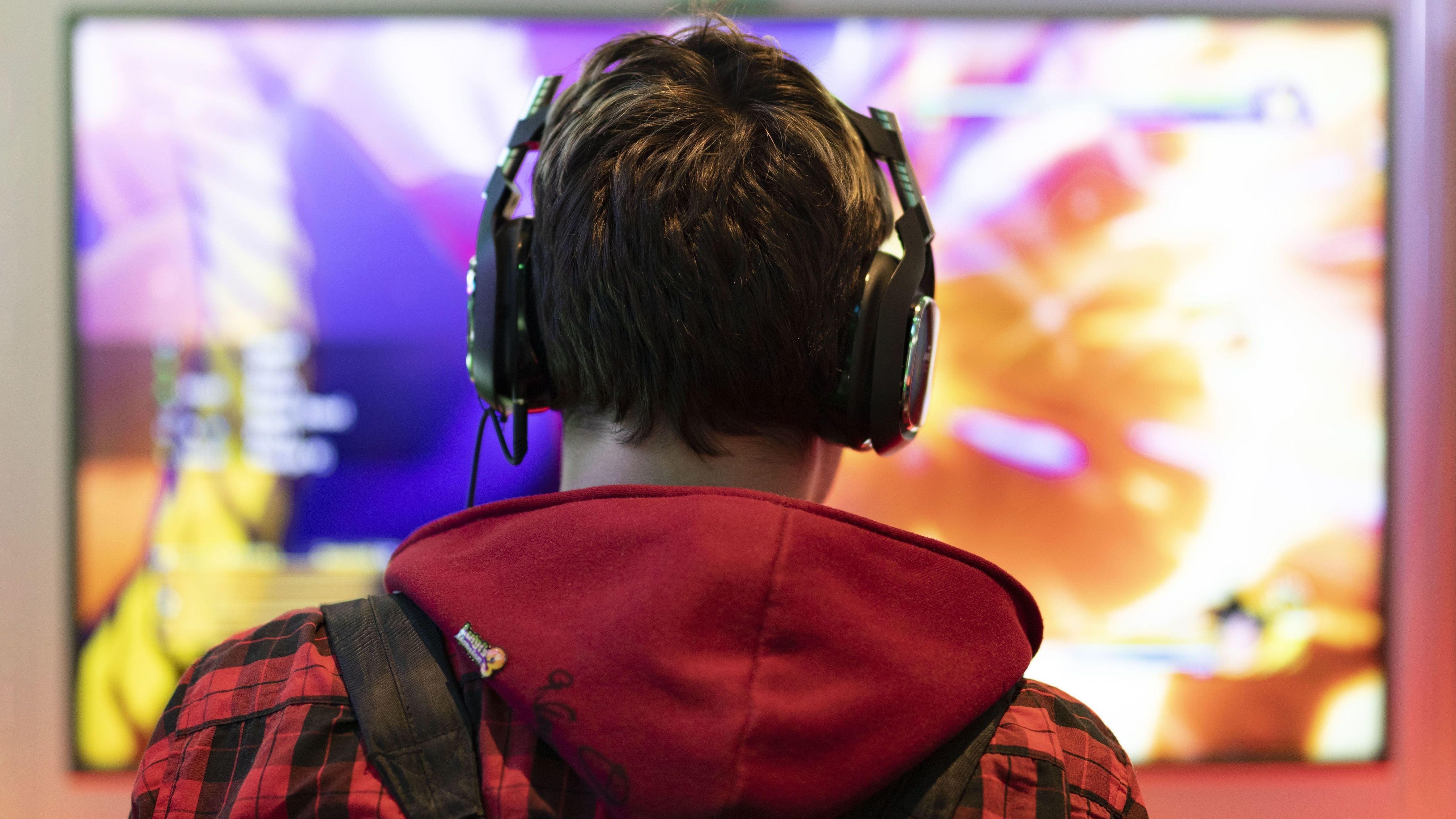 Gamer auf der Computerspielmesse Gamescom