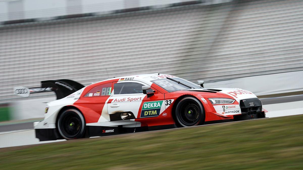 Rene Rast beim letzten DTM-Rennen auf dem Weg zum Titel