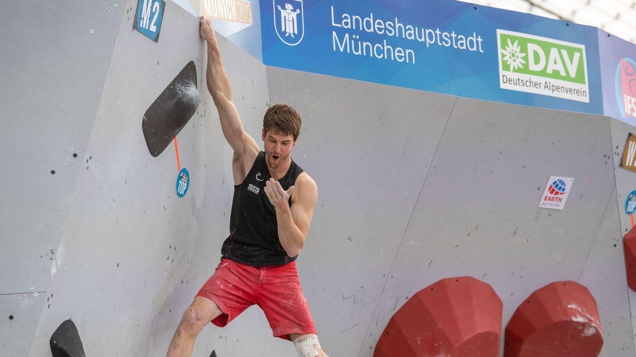 Kletterer Jan Hojer