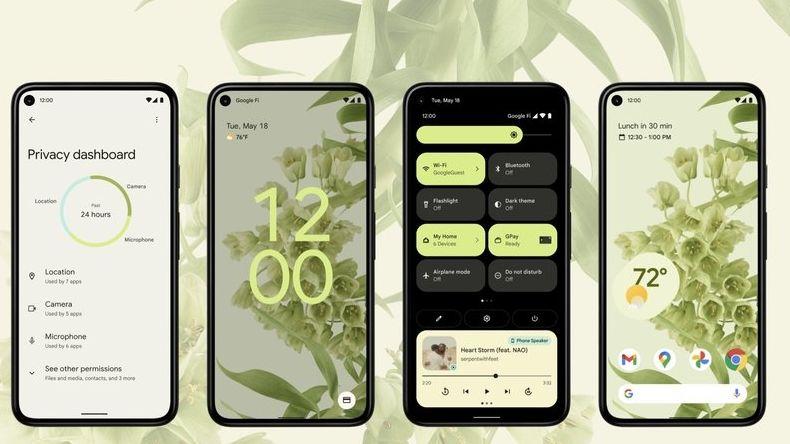 Die neue Version von Android arbeitet mit einem Design, das sich etwa an das Hintergrundbild des Users anpasst.