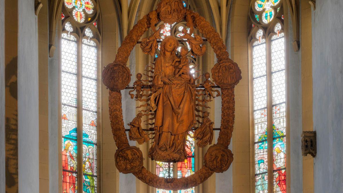Die Riemenschneider-Madonna in der Volkacher Wallfahrtskirche Maria im Weingarten