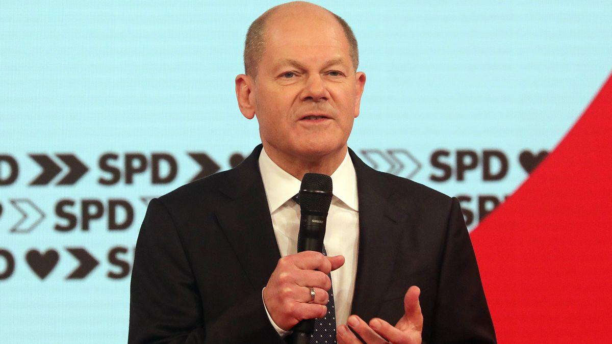 SPD-Kanzlerkandidat Olaf Scholz beim SPD-Bundesparteitag