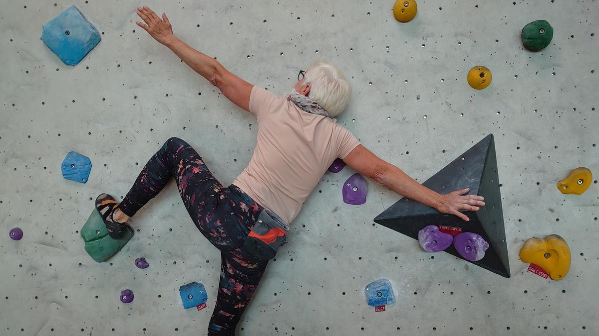 Monika Fischermeier, Kletterbetreuerin vom DAV Nürnberg