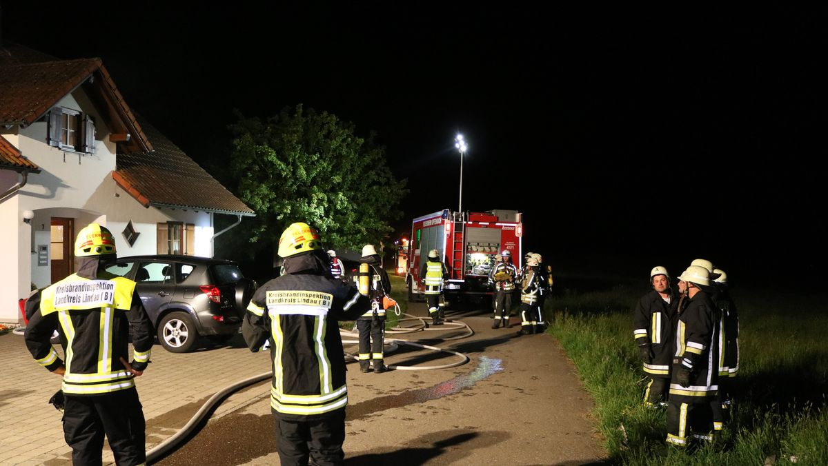 Feuerwehreinsatz in Hergatz.