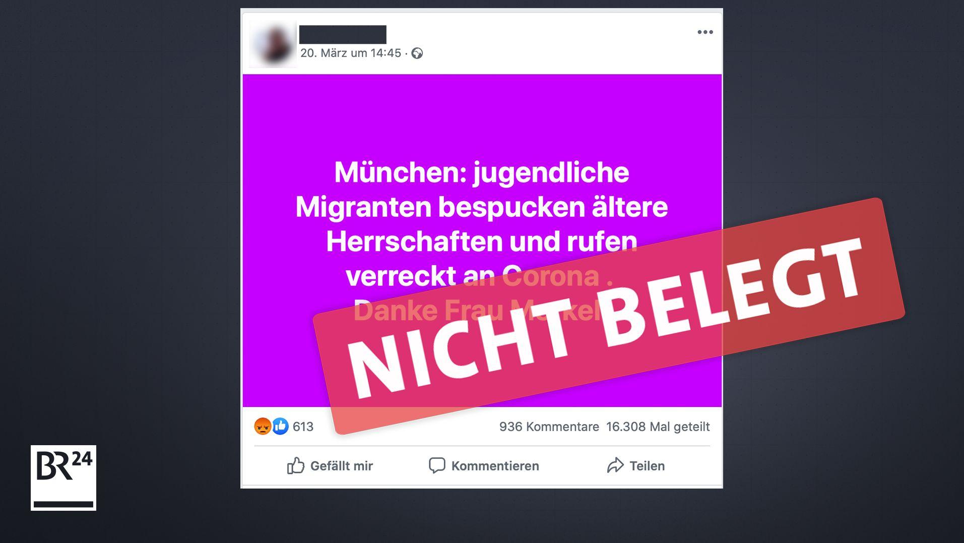 Polizei München: Keine Belege dafür, dass Jugendliche ältere Menschen anspucken