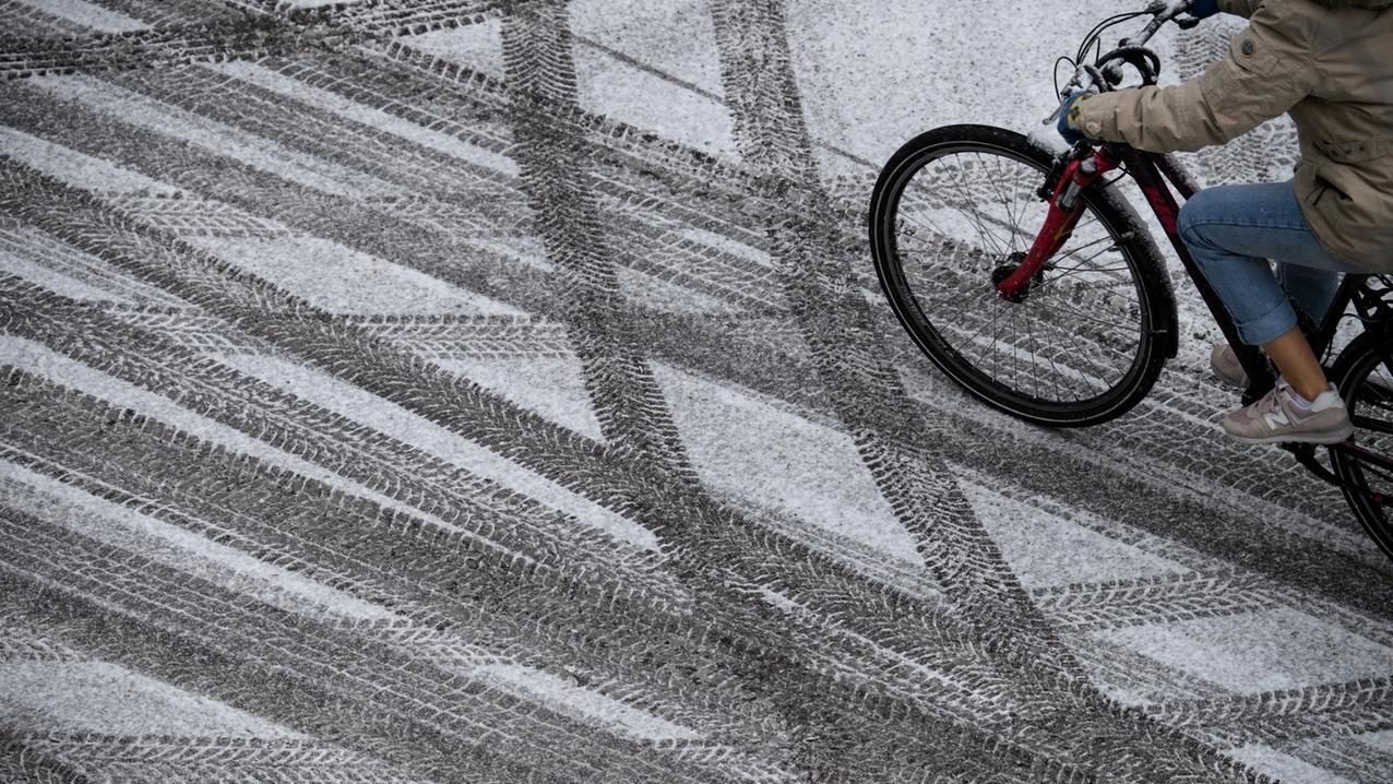 Schneefall in München.
