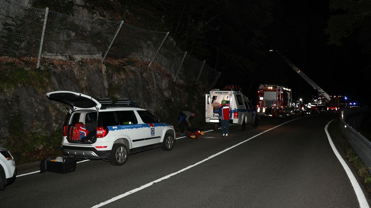 Rettungsaktion am 16.08.2020 an der Heckenbachklamm.