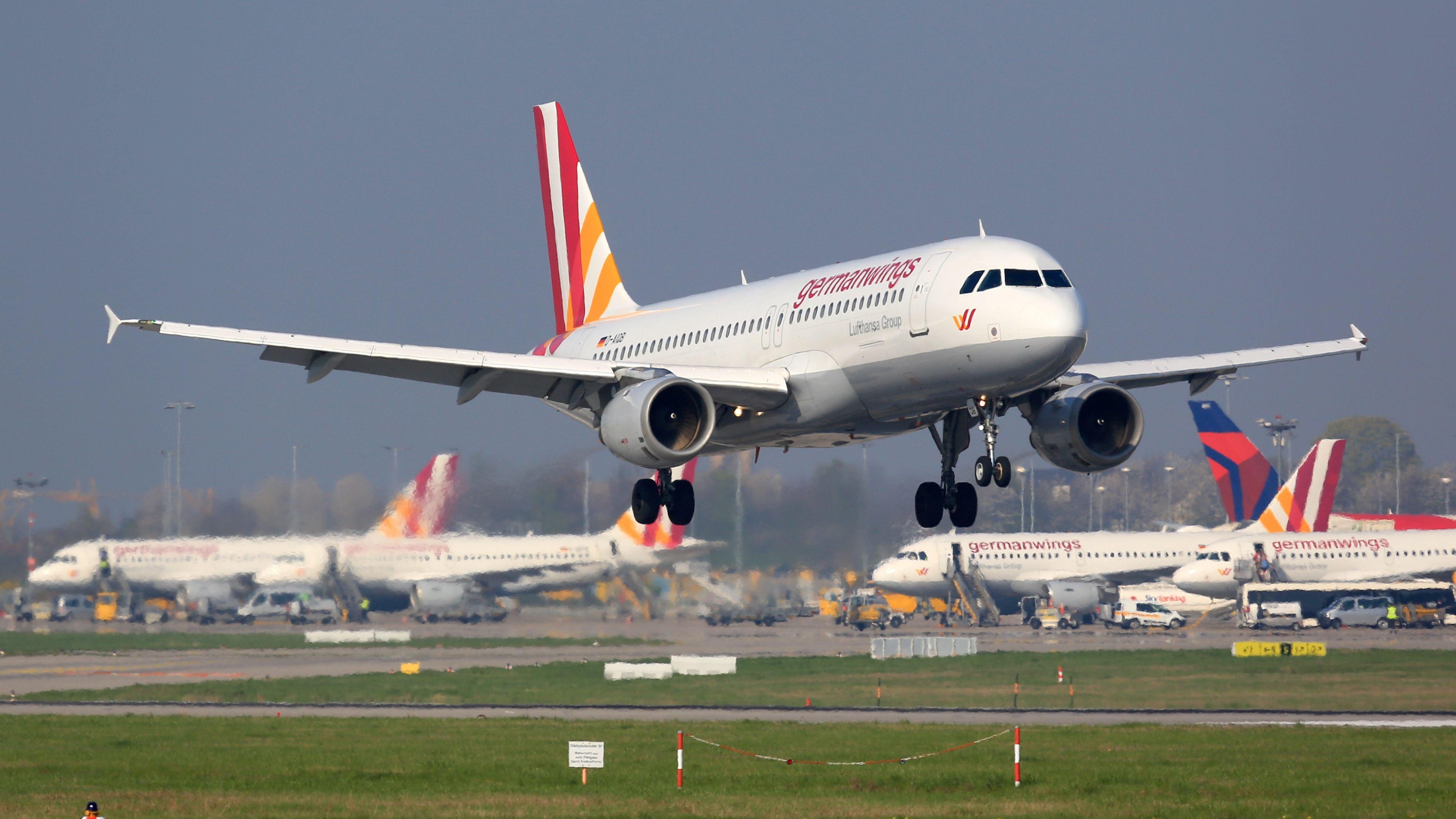 Landung eines Germanwings-Fliegers.