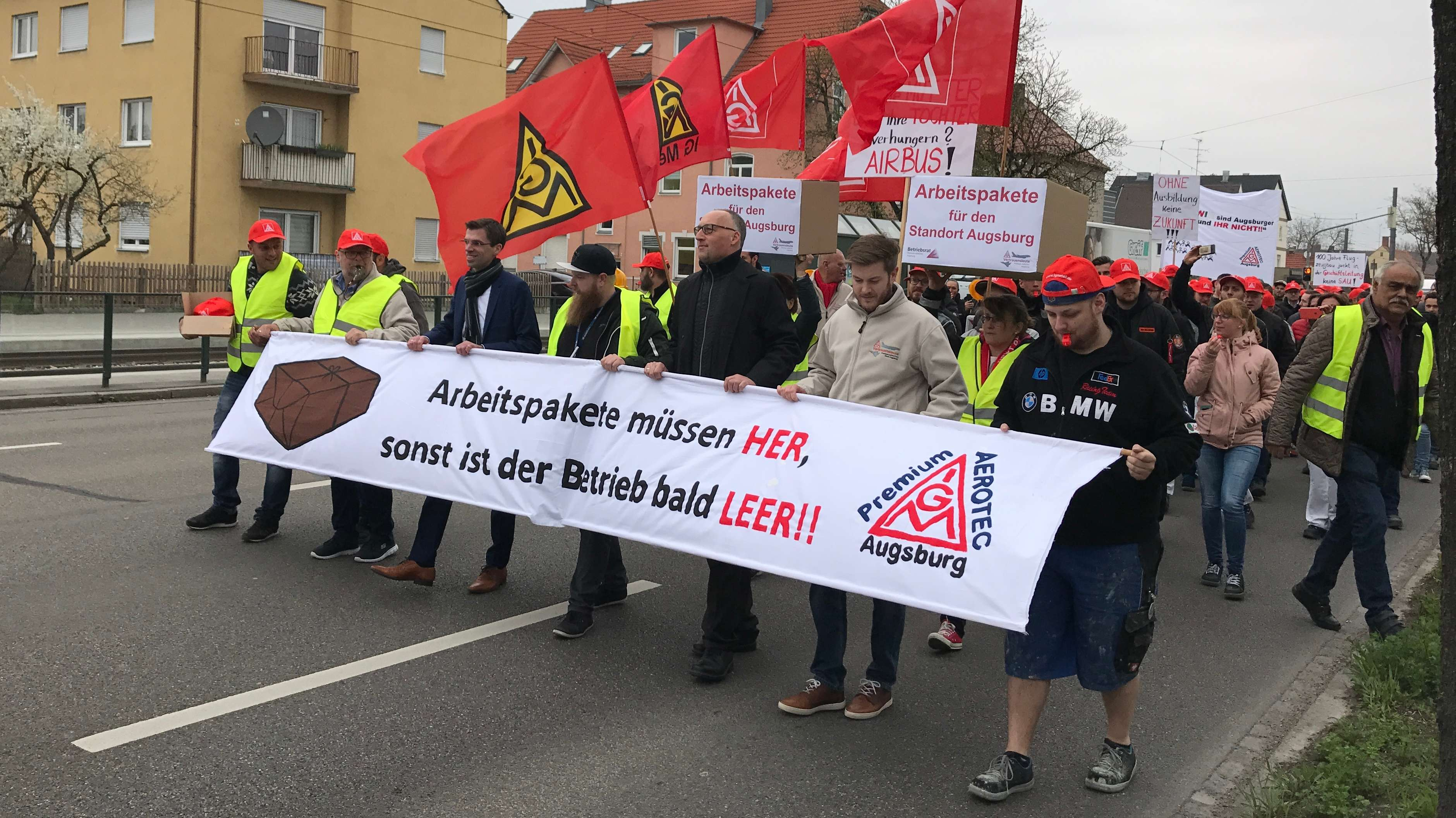 Demonstrationszug der IG Metall.