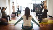 Schwangerschaftsgymnastik   Bild:dpa/pa