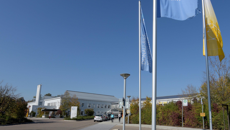 Zufahrt zur Donau-Ries-Klinik in Donauwörth