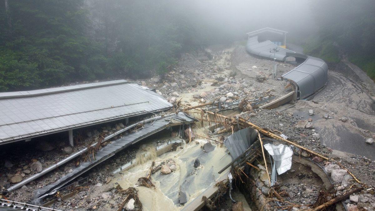 Die zerstörte Bob- und Rodelbahn am Königssee