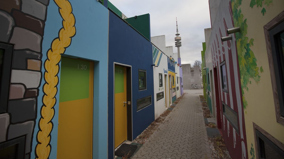 Münchner Studentenwohnheim im Olympiapark
