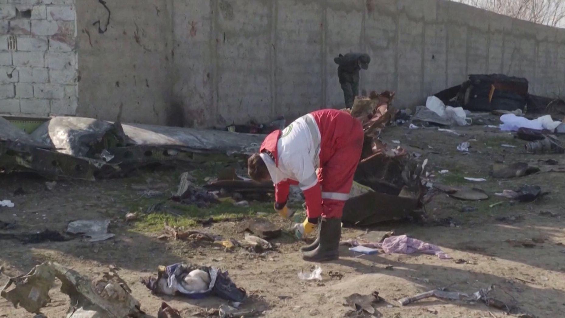 Suche nach Überresten der ukrainischen Maschine im Iran