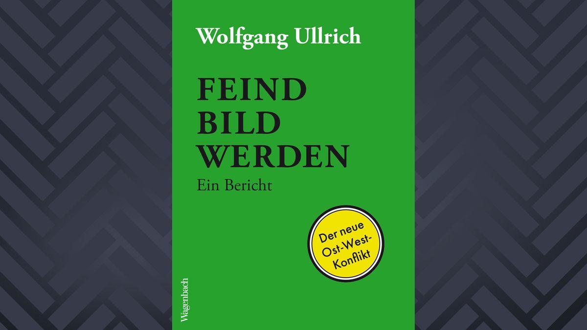 """Buchcover """"Feindbild werden"""" von Wolfgang Ullrich (weiße und schwarze Schrift auf grünem Grund)"""