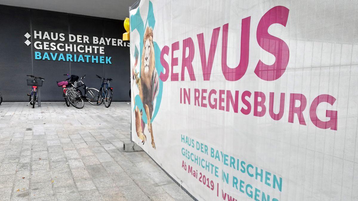 Die Bavariathek des Museums kurz vor der Eröffnung