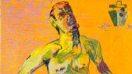 Martin Kippenberger malt sich 1996 als Schiffbrüchigen   Bild:Städtische Galerie im Lenbachhaus und Kunstbau München