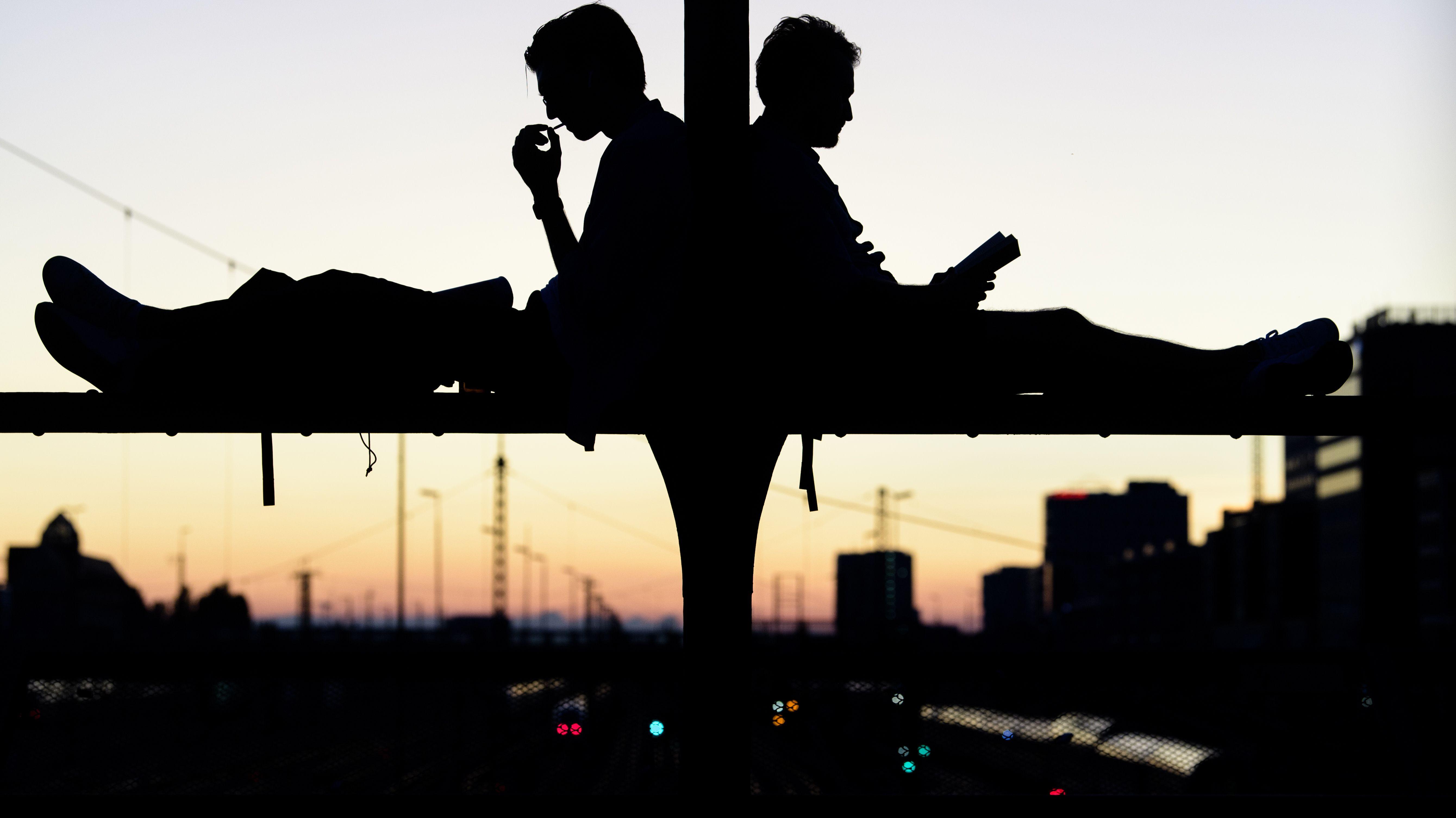Relaxen auf der Hackerbrücke