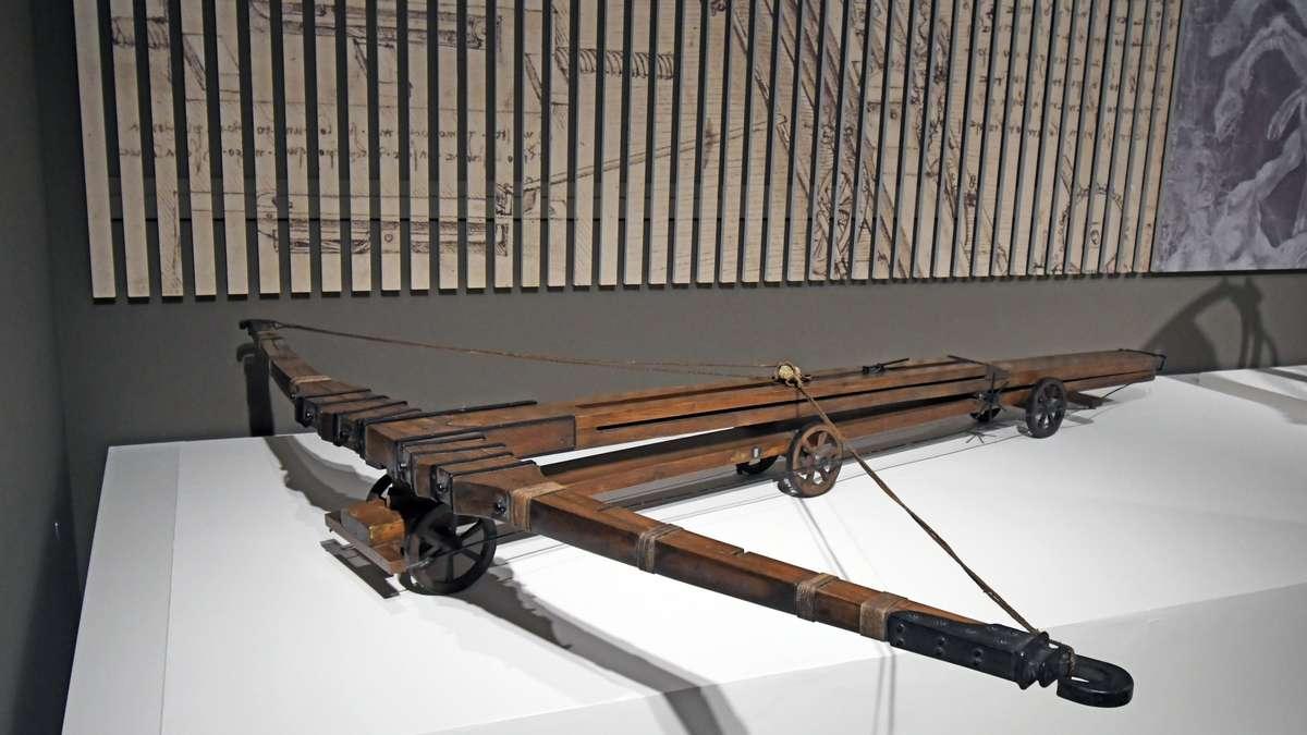 Armbrust - konstruiert von Leonardo da Vinci