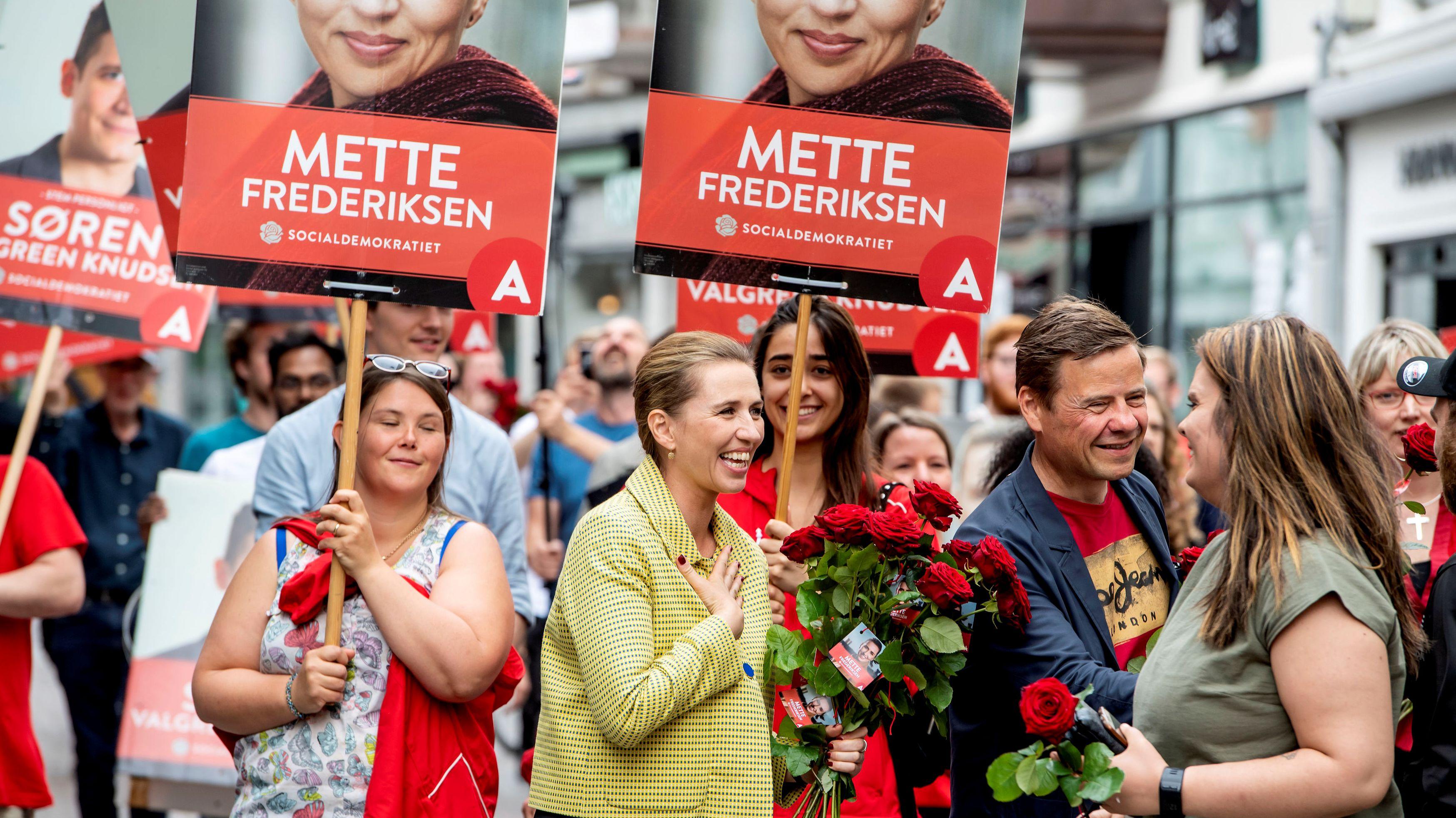 Mette Frederiksen von den dänischen Sozialdemokraten