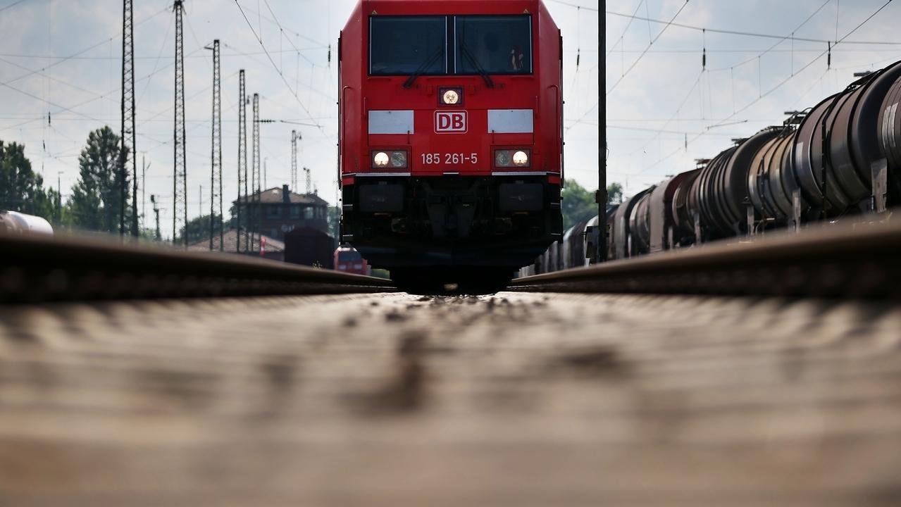 Eine Güterzuglok