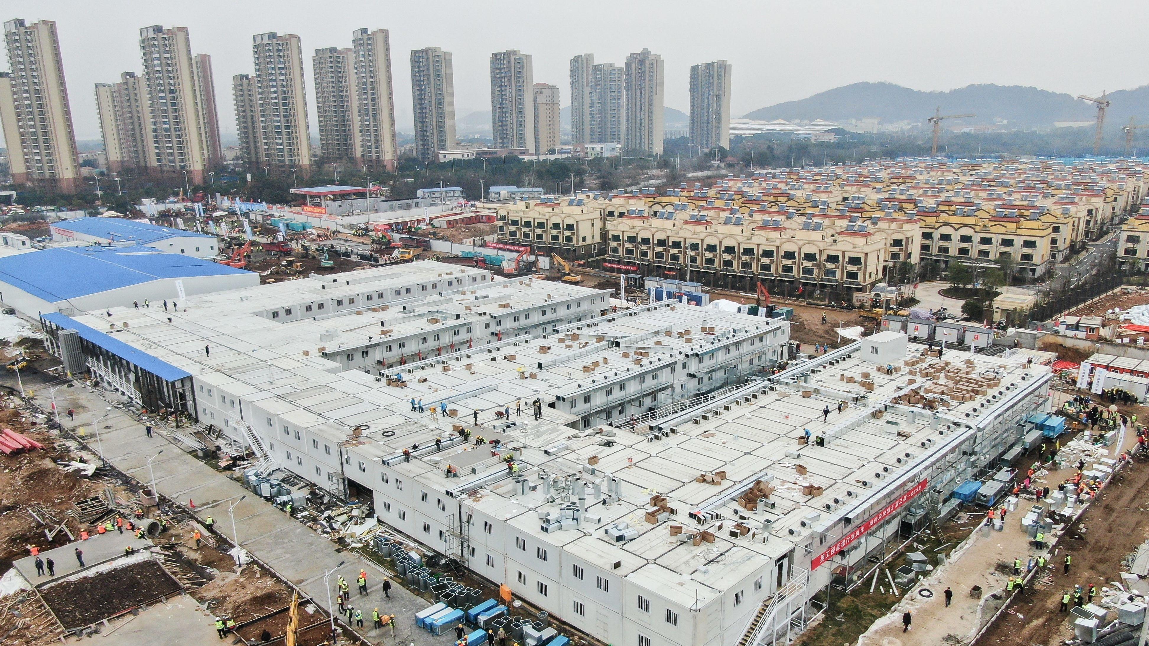 Huoshenshan Krankenhaus in Wuhan