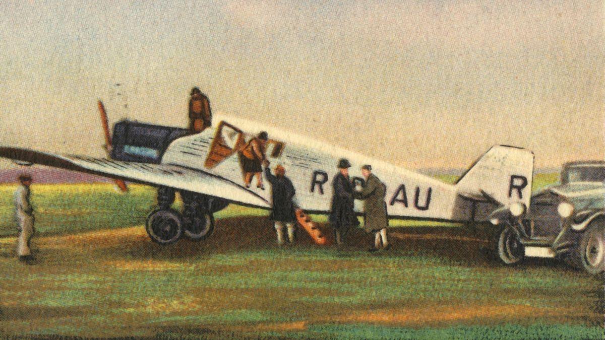 Die Junkers F 13 auf einem Zigarettensammelbild aus dem Jahr 1932
