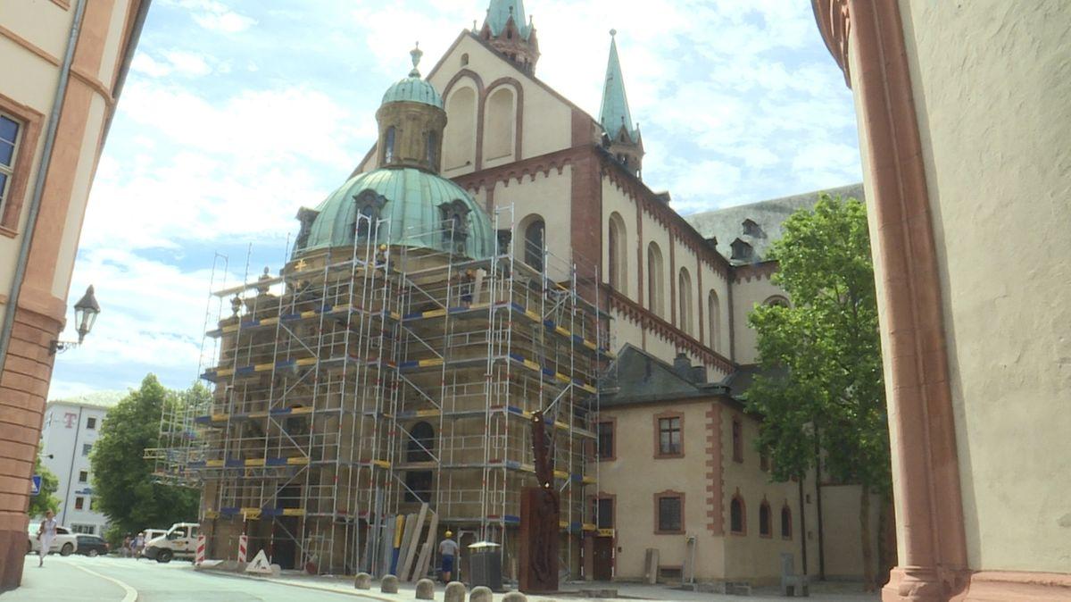 Gerüst an der Schönbornkapelle