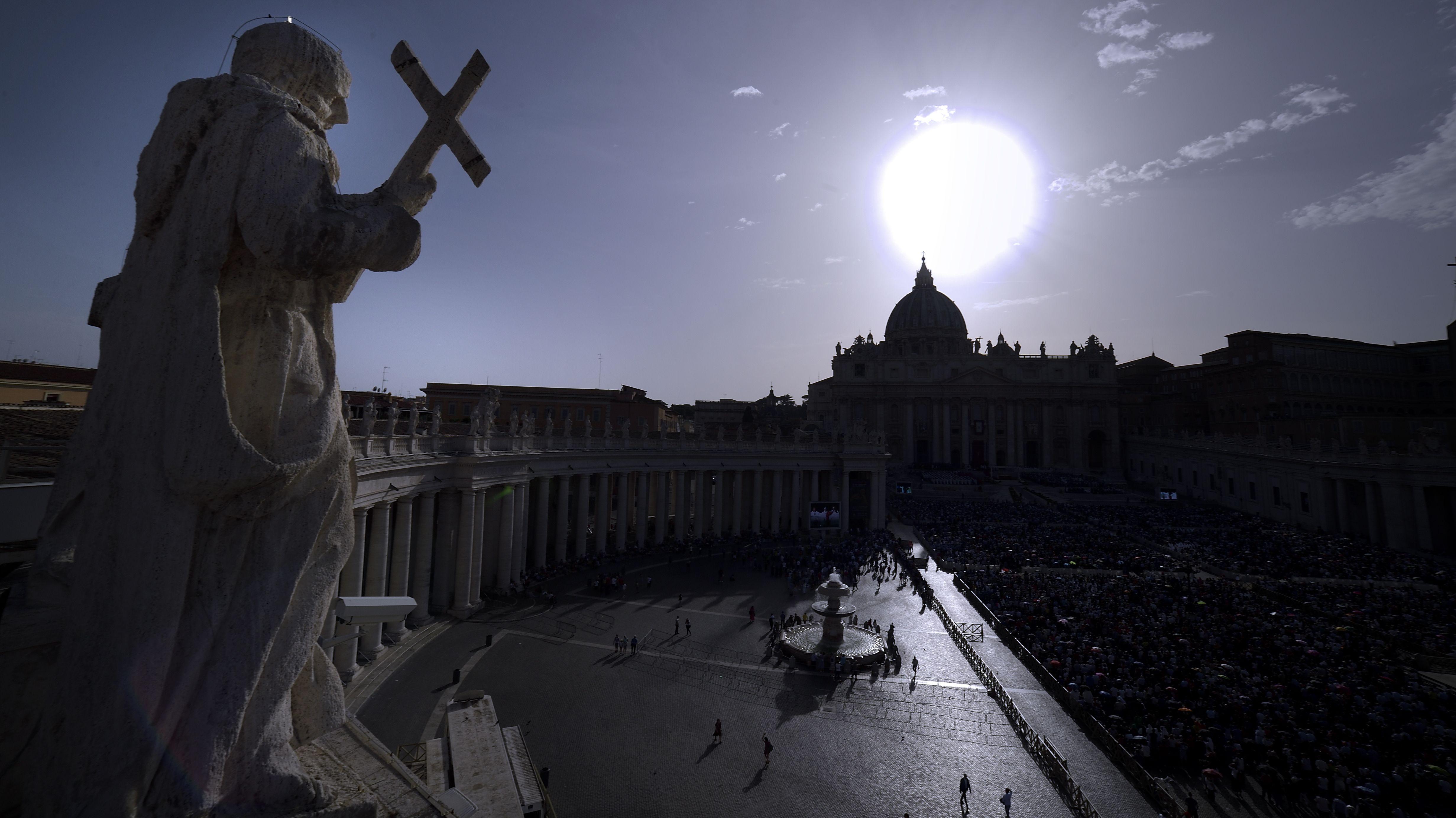 Petersplatz im Vatikan am 8. Juni 2019.