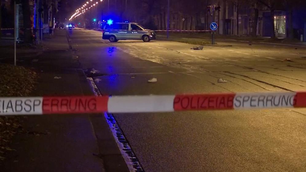 Polizeiabsperrung nach Raser-Unfall   Bild:Bayerischer Rundfunk 2019